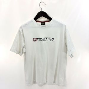 NAUTICA Competition XL T-shirt White Vintage